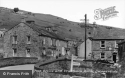 The Post Office And Troutbeck Hotel c.1955, Gunnerside