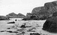 Gunwalloe, Trevelgue Cliffs 1899