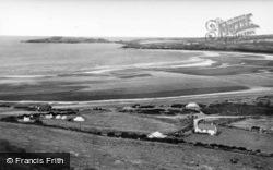 Gwbert-on-Sea, And Cardigan Island From Poppit c.1939, Gwbert