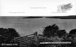Gwbert-on-Sea, And Cardigan Island From Poppit c.1960