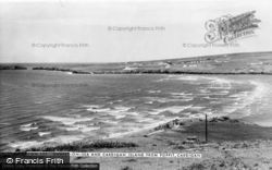 Gwbert-on-Sea, And Cardigan Island From Poppit c.1965