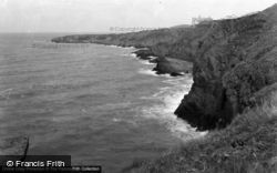 Gwbert-on-Sea, Cliffs And Sea c.1955, Gwbert
