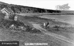Gwbert-on-Sea, Poppit c.1955, Gwbert
