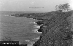 Gwbert-on-Sea, The Cliffs c.1955, Gwbert