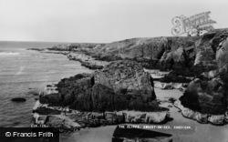 Gwbert-on-Sea, The Cliffs c.1960