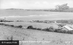Gwbert-on-Sea, The View From Poppit c.1950