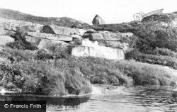 Gweedore, Crolly, Waterfall And Stone c.1950
