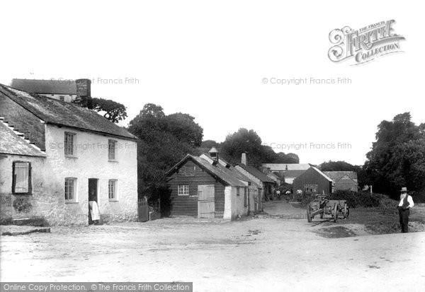 Gweek, the Village Green 1904