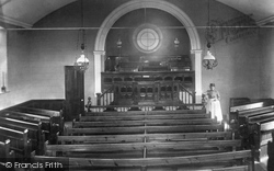 Wesleyan Church Interior 1904, Gweek