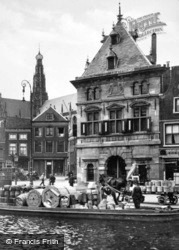 Waag And Grote Kerk c.1930, Haarlem