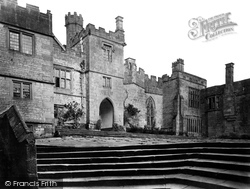 Haddon Hall, Courtyard c.1862