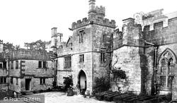 Courtyard c.1870, Haddon Hall