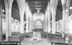 Hadleigh, Church Interior 1922