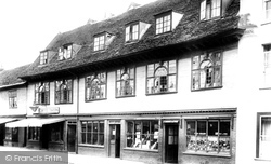 Hadleigh, Old Houses In High Street 1922