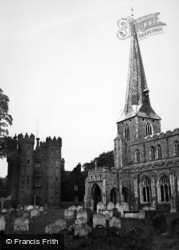 Hadleigh, St Mary's Church And Deanery Tower 1950