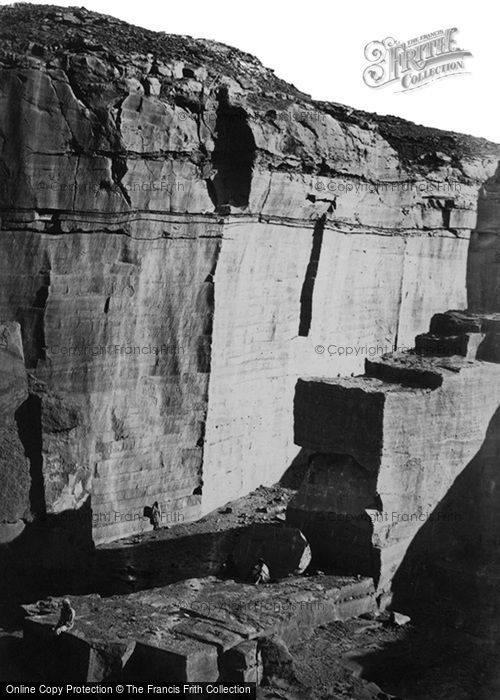 Photo of Hager Silsilis, View In The Quarries 1860