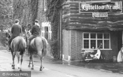 Hagley, Park Road, Horse Riders And Lyttelton Arms c.1965