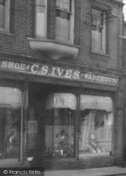Shoe Shop c.1960, Halesworth