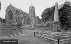The Church And War Memorial c.1955, Halesworth