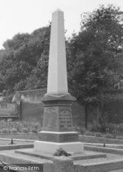 The War Memorial c.1955, Halesworth