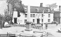War Memorial And Kings Arms Hotel c.1955, Halesworth