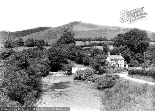 Halfway,River at Gutto Mill c1955,Dyfed