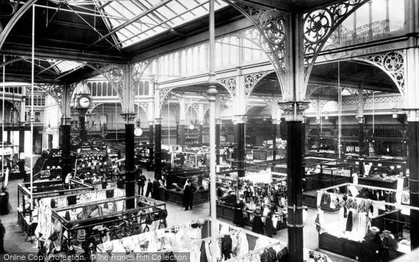 Photo of Halifax, Inside The Market Hall 1896