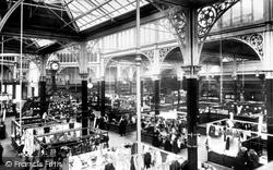 Halifax, Inside The Market Hall 1896