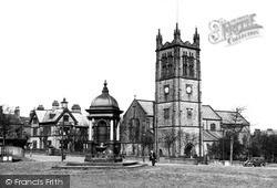 Halifax, St Jude's Church And Fountain c.1955