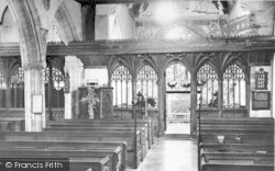 Parish Church Interior c.1955, Halse