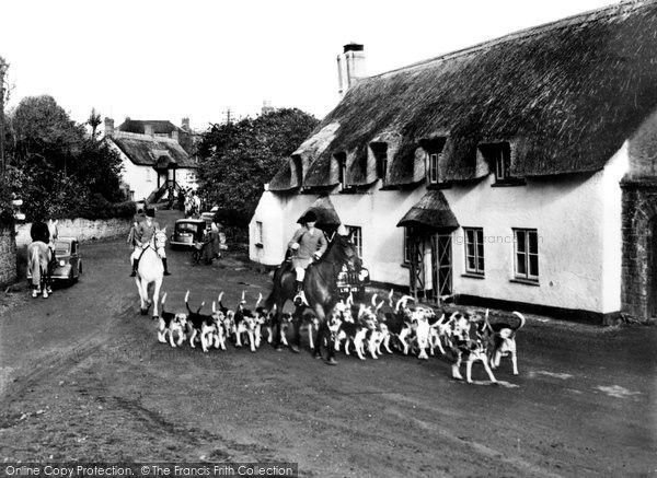 Photo of Halse, The Hunt Passing Through The Village c.1955