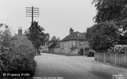 Halstead, The Old Post Office And The Cross Roads c.1955