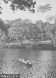 Rowing On The River c.1960, Halton