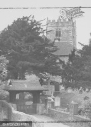 St Wilfrid's Church And Lychgate c.1955, Halton
