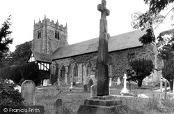 St Wilfrid's Church And The Cross c.1955, Halton