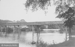The Bridge And Weir c.1955, Halton