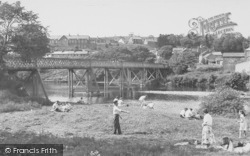 The River And Bridge c.1955, Halton