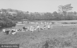 The River Lune c.1955, Halton
