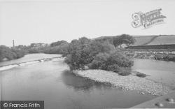 The River Lune c.1960, Halton