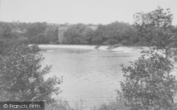 The Weir And Mill c.1955, Halton