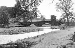Halton West, The River And Bridge c.1950