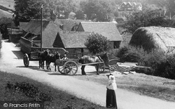Hambledon, Horse And Carts In The Village 1904