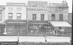 Belmont Cycle & Phonograph Co, Uxbridge Road c.1900, Hammersmith