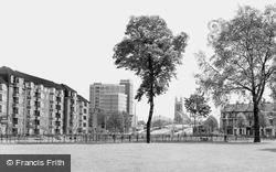 Church From Furnivall Gardens c.1960, Hammersmith