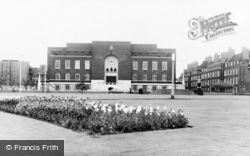 Furnivall Gardens And The Town Hall c.1960, Hammersmith
