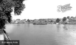 Lower Mall From The Barnes Bank c.1960, Hammersmith