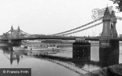 The Bridge c.1960, Hammersmith