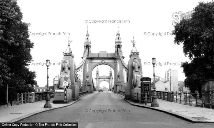 Hammersmith, the Bridge c1960