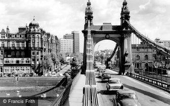 Hammersmith, the Bridge c1965