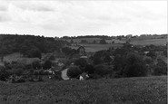 Hampstead Norreys, the Village from Folly Hill 1950